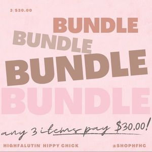 Bundle any 3 items pay $30.00
